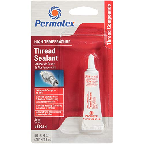 Permatex 59214 High Temperature Thread Sealant, 6 ml Tube, Pack of 1