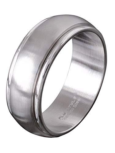Fly Style Schmaler Bandring Drehring aus Edelstahl für Damen und Herren, Ring Grösse:17.2 mm
