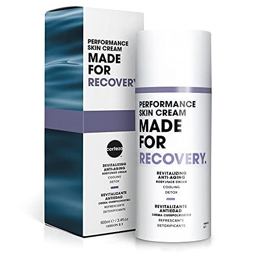 Corteza Made For Recovery Crema para la piel de alto rendimiento | Crema de recuperación muscular, crema facial y corporal de ácido hialurónico | Crema de recuperación deportiva y el dolor muscular.