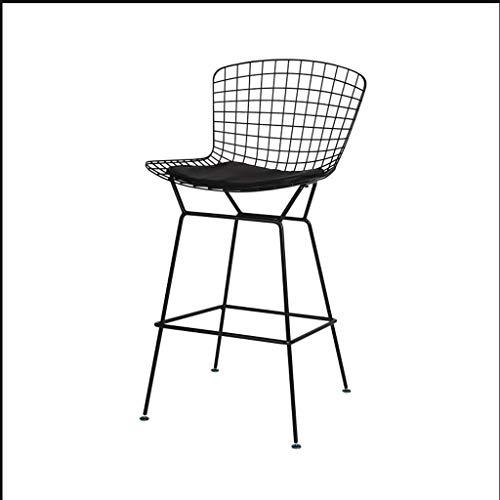 SYFO Barhocker Persönlichkeit Draht Bar Stuhl Café Restaurant hohen Hocker kreative Bertoia Stuhl, 47 * 49 * 103cm, DREI Farben optional (Color : Black)