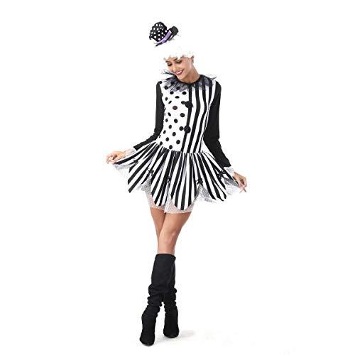 GAOJUAN Nuevo Disfraz De Halloween Disfraz De Payaso De Circo A Rayas para Adulto,Style1,M