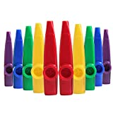 Ira Pollitt 10 Pieces 5 Different Colors of Plastic Kazoos Musical Instrumentsfor Gift, Prize and Party Favors, A Good Companion for Guitar, Ukulele, Violin