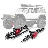 【2021 Neujahrsaktion】 RC Vorderachse, Vorderachse Hinterachse Reifenantriebswelle Einfach und bequem zu installieren und zu entfernen für Axial SCX10/D90 1/10 Scale RC Car -
