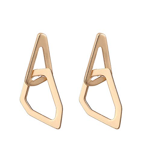 S925 pendientes triangulares irregulares simples de aguja de plata pendientes de metal mate pendientes de diseño personalizado