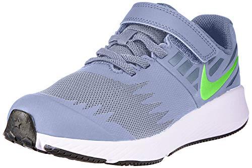 Nike Jungen Star Runner (PSV) Leichtathletikschuhe, Mehrfarbig (Wolf Grey/Lime Blast/Cool Grey 008), 30 EU