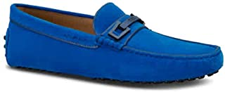 Men's Blue Gommino Driving Shoes in Suede