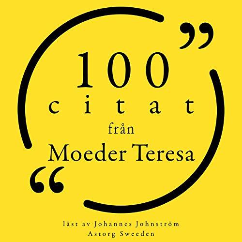 100 citat från Moeder Teresa cover art