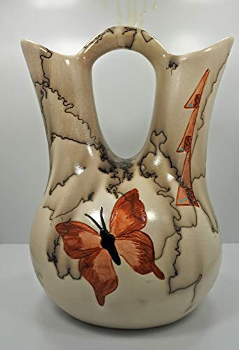 Horse Hair Pottery Butterfly Wedding Vase