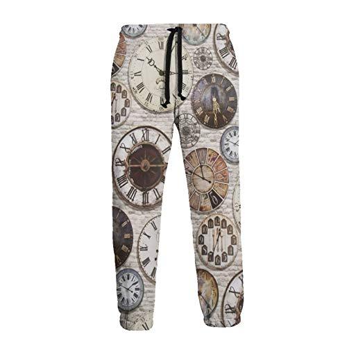 Inaayayi Vintage Artículos Antiguos Steampunk Relojes Unisex Joggers Cool Hombres Pantalones de...