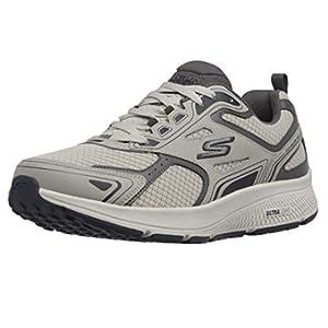 Skechers mens Go Run Consistent - Performance Running & Walking Shoe Sneaker, Grey/Navy, 11 X-Wide US