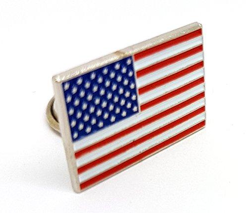 Pin de metal esmaltado, diseño de bandera nacional de Estados Unidos de América