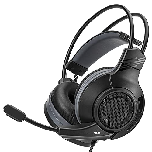 Nitho ATLAS STEREO GAMING HEADSET 7.1 SURROUND SOUND, Compatible with PC/PS4/Xbox One/Switch (USB Adapter Included)