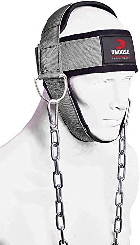 DMoose Neck Harness for Weight Lifting Neck Workout Builder Equipment for Training Gym Exerciser...