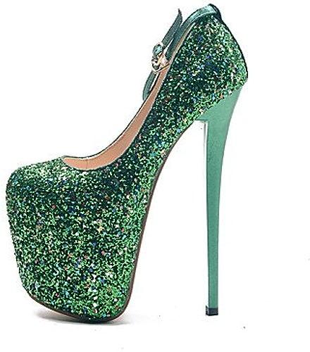 Zormey Les Talons Des Femmes 19Cm Hauteur Talon Sexy Bout Rond Chaussures Partie Stilettopumps