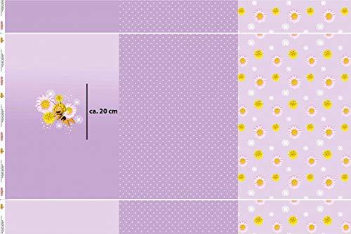 Hemmers Lizenz Jersey Panel Biene Maja Flieder - Stoff - Panel, Einheit:Stück