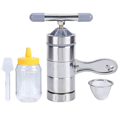 Felenny Mini Máquina Extractora de Miel de Acero Inoxidable con Prensa de Miel Herramienta de Apicultura Portátil de Mano Producto Esencial para Apicultores