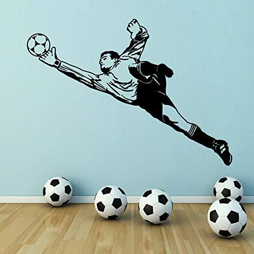 Tianpengyuanshuai Portero fútbol Pared calcomanía Sala Vinilo Pared Pegatina niño Gimnasio decoración Arte Mural 36X50 cm