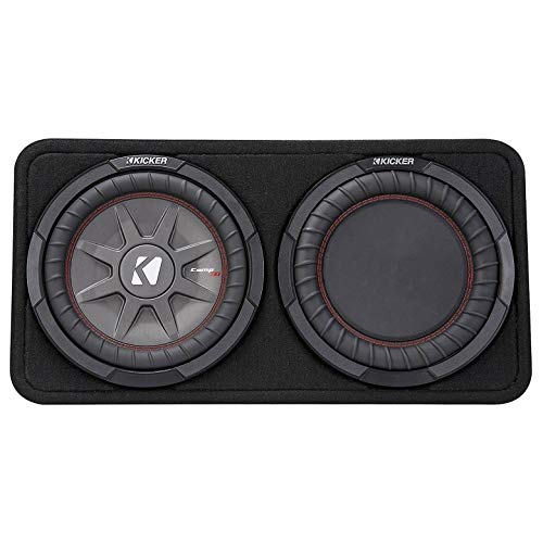 """Kicker 43TCWRT102 CompRT 10"""" 2-Ohm Subwoofer in Thin Profile Enclosure"""
