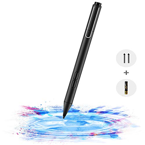 aifulo Surface Pen, Stylus Pen mit Palm Rejection, 2 Ersatzspitzen, 1024 Druckempfindlichkeit, kompatibel mit Surface Pro X/7/6/5/4/3, Surface 3/Book/Laptop/Go/Studio, HP Envy/Pavilion/Spectre