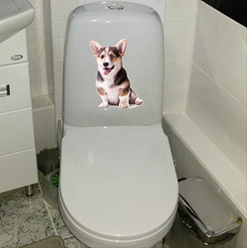 Autocollant De Toilette Chien De Compagnie Classic Wc Home Stickers Muraux Décoration 17.7 * 23Cm