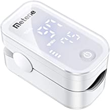 Metene Pulse Oximeter Fingertip, Blood Oxygen Saturation Monitor with Accurate Fast Spo2 Reading Oxygen Meter, Oxygen Monitor with Lanyard and Batteries (White)