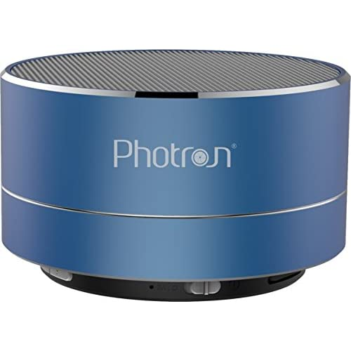 Photron P10 Wireless 3W Super Bass Mini Metal Aluminium Alloy Portable Bluetooth Speaker with Mic (Blue)