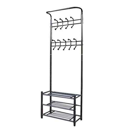 ALTERDJ Metal Garment Hat Coat Rack Shoes Shelf Organizer Shelves Stand Hanger Clothes multifunctional hall rack Hooks Home Use