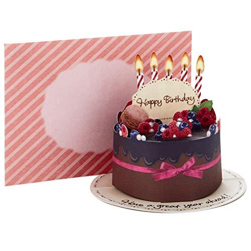 Hallmark Pop Up Birthday Card (Chocolate Cake)