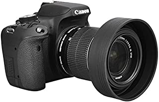 Nikon Panasonic Sigma Kaavie Pentax Leica Tamron Parasol zoom Fujifilm Olympus 72 mm //// VISOR flexibles de goma Rubber Lens Hood 72 mm ajustable en funci/ón de la profundidad de Canon Tokina Samsung