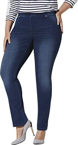 Golden Lutz - Damen Stretch Jeans, mit bequemem Gummizugbund ++ Plus Size ++ (dunkelblau Denim, Gr. 44) | ESMARA