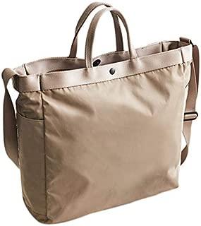 TOOGOO Nylon Handbag Solid Color Multi-Function Large Capacity Unisex Office Casual Shoulder Messenger Bag khaki