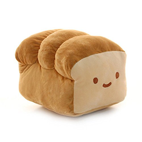 CottonFood Food Plush Pillow Bread 25cm(10') Brown
