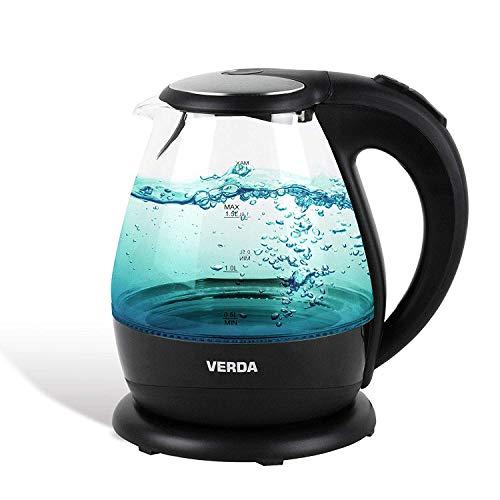 VERDA Wasserkocher 1,5L 2200W Kalkfilter LED Beleuchtung Kabelloss Glas SN0615L
