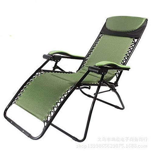 YLCJ campingstoel opvouwbare ligstoel, ligbad in de tuin met tafel - perfect voor thuis/terras/terras/vakantie/strand