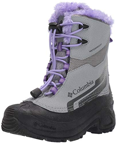 Columbia Youth Bugaboot Plus IV Omni-Heat Snow Boot, Monument/Emperor, 3 US Unisex Big Kid