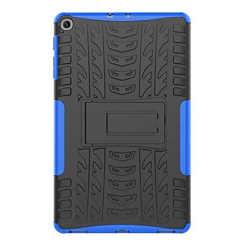 Sunrive Für Xiaomi Mi Pad 2 7,9 Zoll, Hülle Tasche Schutzhülle Etui Hülle Hybride Silikon Stoßfest Zwei-Schichte Armor Design schlagfesten Ständer Slim Fall(A blau)