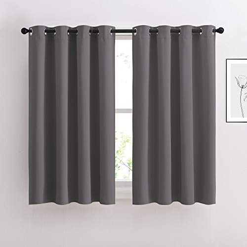 NICETOWN Bedroom Blackout Curtains Panels - Window Treatment Thermal Insulated Solid Grommet Blackout for Living Room (Set of 2 Panels, 52 by 54...
