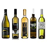 White Wine Sampler - Five (5) Non-Alcoholic Wines 750ml Each - Featuring Ariel Chardonnay, Lussory...