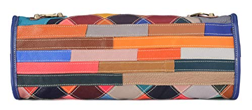 Multicolour Patchwork Leather Handbag / Shoulder Bag