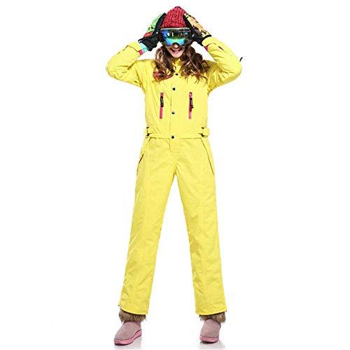 Een Stuk Ski Suit Vrouwen Mountain Skiën Jas Snowboard Broek Vrouwelijke Waterdichte Winter Warm Sneeuw Jumpsuit L SAAFW1C