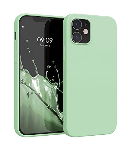 ICOVERI Funda de Silicona Compatible con iPhone 11 Verde. Carcasa Compatible con Accesorios Magsafe y Cargador Inalambrico. Tacto Suave, Microfibra Interior.