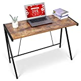 amzdeal Computer Writing Desk 40'', Industrial Simple Style Laptop Study Table, Sturdy Home Office Table with Steel Frame, Modern Notebook Desk, Vintage