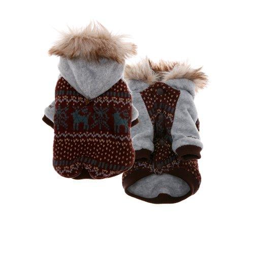 Puppy Angel Eskimo gewatteerde hond omkeerbare jas maat S Bourgondië
