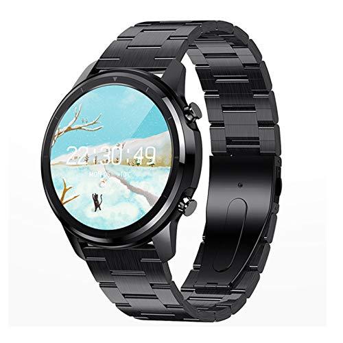 Bluetooth 5.0 Smart Watch 1.3 Pulgadas 360 * 360 HD AMOLED Pantalla Abajo Abajo A Prueba De Agua Ratón Cardíaco para Hombres Y Presión Arterial,D