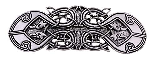 VASSAGO Antique Retro Harmony Celtic Irish Knot Trinity Triquetra Hairclip Barrette Hairpin Ponytail Holder for Women Girls (Antique Silver 5)