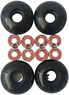52mm Blank Pro Single Tone Skateboard Wheels ABEC-11Bearings Spacers