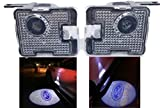 Sunshine Fly 2 unidades LED Lado bajo Espejo Lámpara de luz espíritu Logo de bienvenida luz Enfoque Auto trasera accesorios de recambio