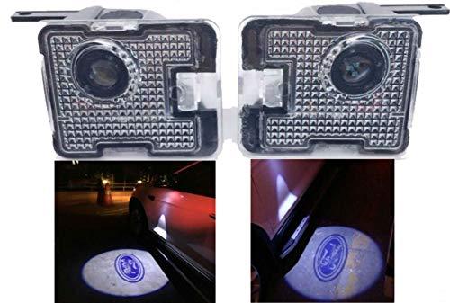 Sunshine Fly 2 stücke LED Seite Unter Spiegel Projektor Licht Geist Logo Willkommen Licht Auto Ersatz Rücklicht Zubehör Weiße (for kuga)