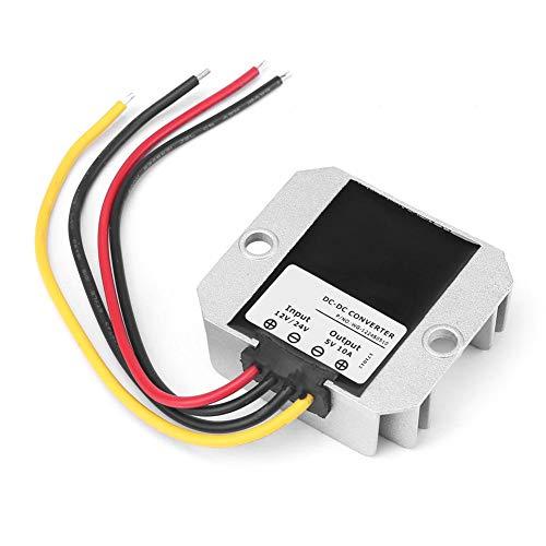 Buck Step-Down-Wechselrichter für Auto, LED-Display, wasserdicht, 12 V / 24 V bis 5 V, 10 A, 50 W, Energieeffizienzklasse A+]