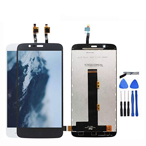 MOLIBAIHUO Gris/Blanco Compatible con la Pantalla LCD de ZTE Blade A310 + Reemplazo del ensamblaje de la Pantalla táctil Compatible con el teléfono Inteligente ZTE A310 + Herramientas gratuitas LCDs